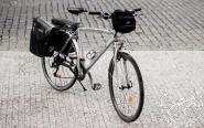 Hybrid/trekking bycicle with panniers -Praha Bike rent in Prague